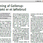 LETTER TO THE EDITOR: Closing down Gellerup project is breach of promise